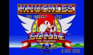 Sonic and Knuckles in Sonic 2